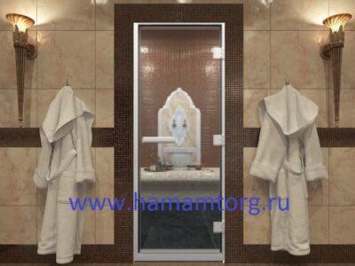Дверь для хамама стекло прозрачное